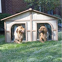 Extra Large Double Door Dog House - Suits Two Dogs