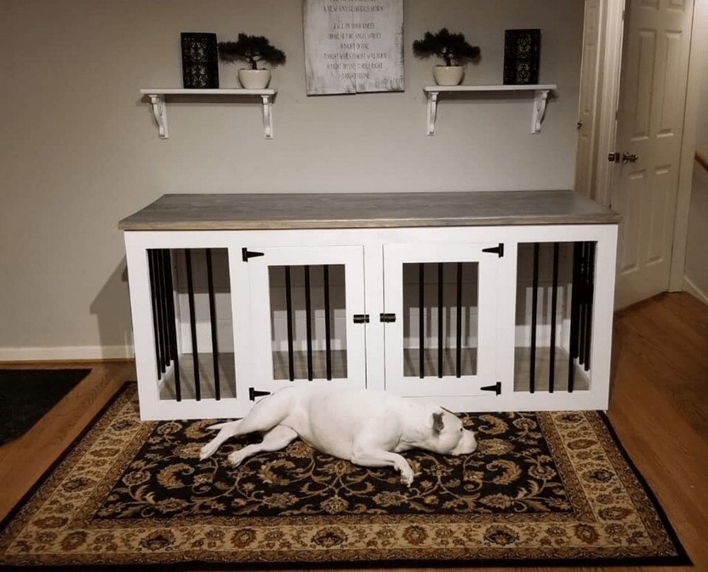 Indoor wooden dog house picture