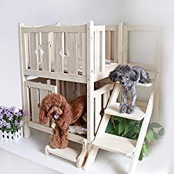 Petsfit Wooden Double Decker Dog House