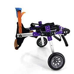 SYLPHID Adjustable Dog Wheelchair for Back Legs Rehabilitation