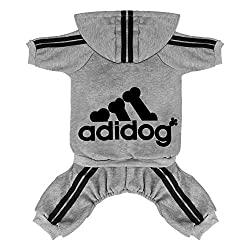 Scheppend Adidog Sweatshirt Onesie for Dogs