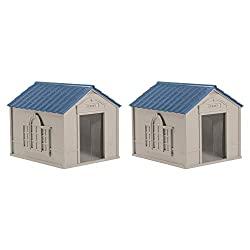 Suncast Deluxe Weatherproof Double Large Dog House