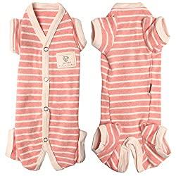 Tony Hoby Striped Onesie Pajamas for Dachshund Dogs