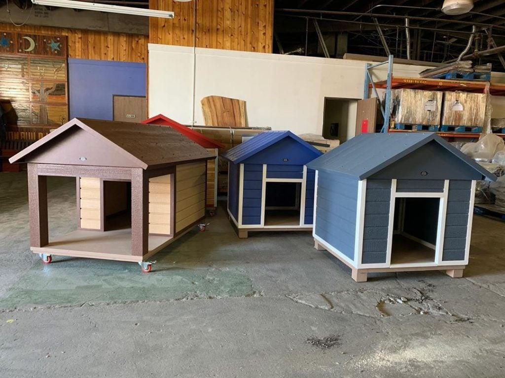 large wooden dog house types
