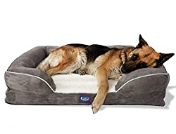 Laifug Orthopedic Memory Foam Dog Bed with Washable Cover