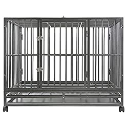 SmithBuilt Heavy Duty Double Door Dog Crate and Cage