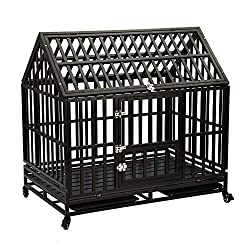TQ Pet Strong Metal Off the Ground Dog Kennel