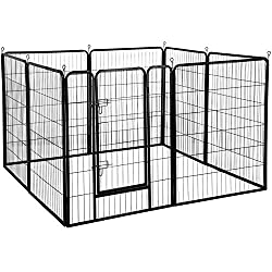 Yaheetech Heavy Duty Portable Dog Fence for Camping