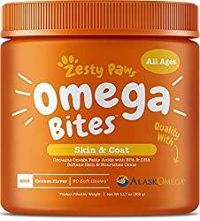 Zesty Paws Omega 3 Fish Oil Chews for Dogs