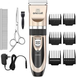 Oneisall Cordless Rechargeable Low Noise Dog Clippers