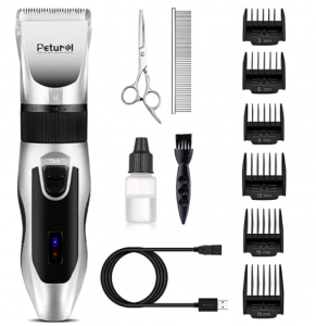 Petural Dog Clippers,Quiet Dog Clippers for Grooming Cordless