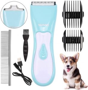 Seanme Professional Cordless Dog Clippers with Double Blades