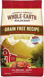 Whole Earth Farms Natural Dry Dog Food for Shedding