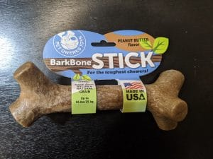 pet qwerks barkbone stick peanut butter