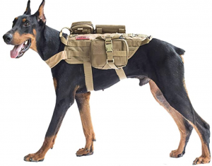 OneTigris Tactical Dog Molle Vest Harness Training Dog Vest with Detachable Pouches