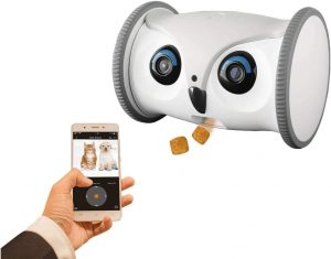 Skymee Owl Robot Mobile Pet Camera and Treat Dispenser