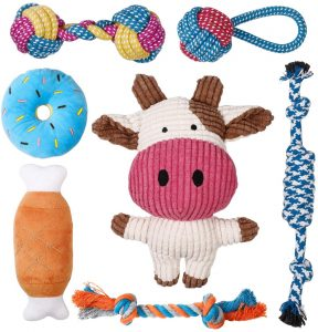 Toozey Puppy Toys 7-Pack Small Dog Toys