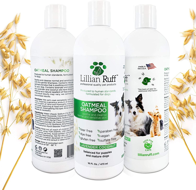 Lillian Ruff Oatmeal Dog Shampoo for Normal to Sensitive Skin