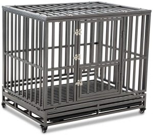 Luckup Heavy Duty Metal Dog Crate