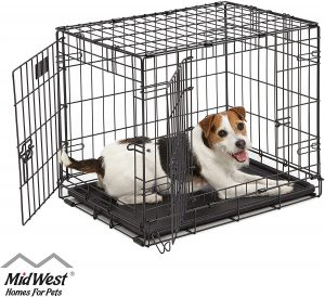 MidWest Homes iCrate Folding Metal Dog Crate