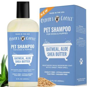 Oliver's Choice Pet Shampoo with Aloe and Shea Butter for Stinky Dogs