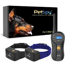 Pet Spy P620B Dog Training Shock Collar for 2 Dogs