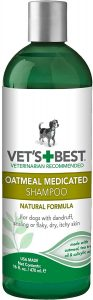 Vet's Best Medicated Oatmeal Shampoo for Dogs, 16 Ounces