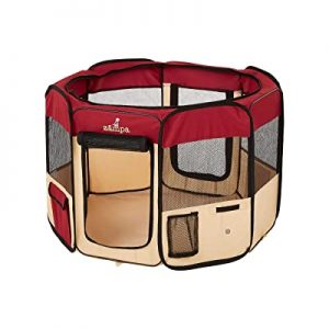 Zampa Portable Foldable Pet Playpen 71 Inch Dog Kennel​