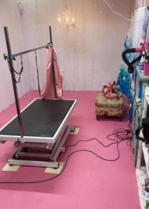 hydraulic table for dog grooming