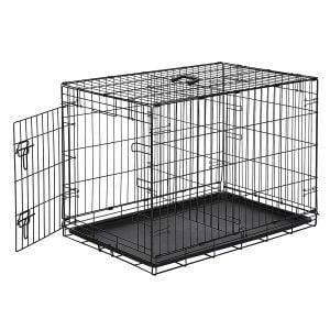 Amazon Basics Single-Door Folding Metal Puppy Crate