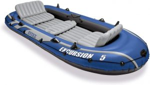 Inteax Excursion 5 Person Inflatable Canoe