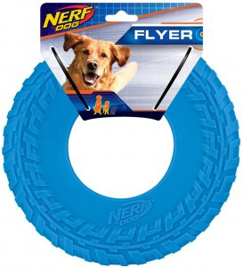 Nerf Rubber Tire Flyer Dog Water Toy