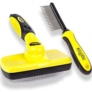 Shed Titan Self Cleaning Dematting Slicker Brush