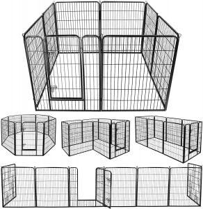 Zeny Foldable Metal Dog Kennel