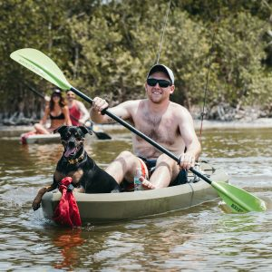 Kayak with a dog