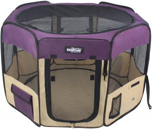 Elite Field 2-Door Soft Indoor Dog Playpen with Floor