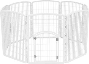 IRIS USA Exercise 8-Panel Puppy Pet Playpen with Door