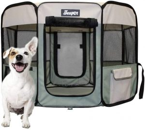 Jespet Pet Indoor Dog Playpen with Floor
