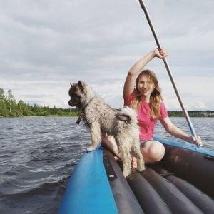 dog raft for kayak