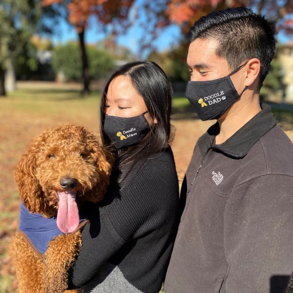 doodle mom and doodle dad facemasks