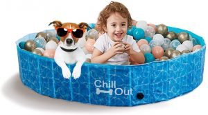 ALL FOR PAWS Foldable Bathing Dog Pool