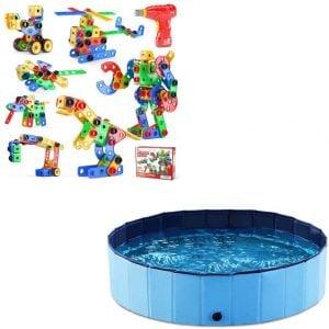 Jasonwell Foldable Dog Swimming Pool