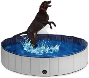 4. PUPTECK Foldable Dog Swimming Pool