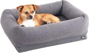 Barkbox 2-in-1 Memory Foam Dog Bolster Bed
