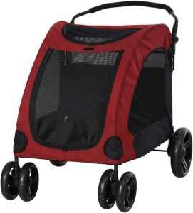 PawHut Foldable Dog Stroller with Storage Pocket, Oxford Fabric for Medium or Large Size Dogs 9.99