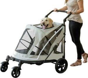 Pet Gear NO-Zip Stroller, Push Button Zipperless Dual Entry 5.59