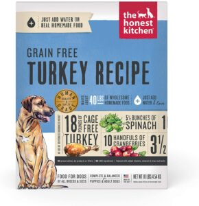 The Honest Kitchen Human Grade Dehydrated Grain Free Dog Food Turkey Recipe .99