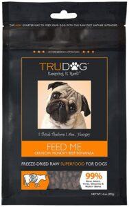TruDog Feed Me Crunchy Munchy Beef Bonanza Dog Food - Real Freeze-Dried Raw Beef Superfood .49