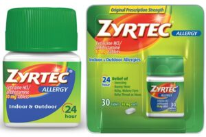 What dosage of Zyrtec do I use