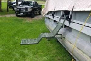 floating dog ramp for pontoon boat